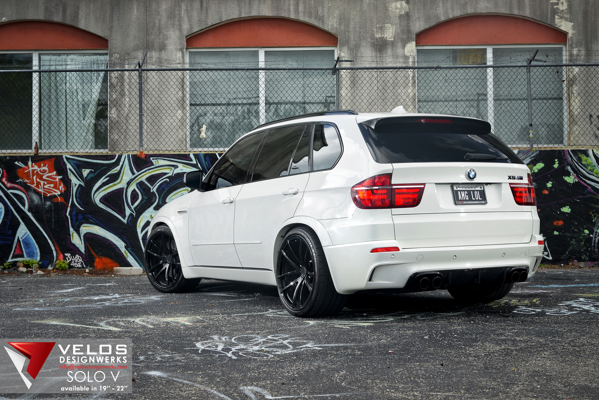 Alpine White Bmw X5m On 22 Quot Velos Solo V Wheels Velos