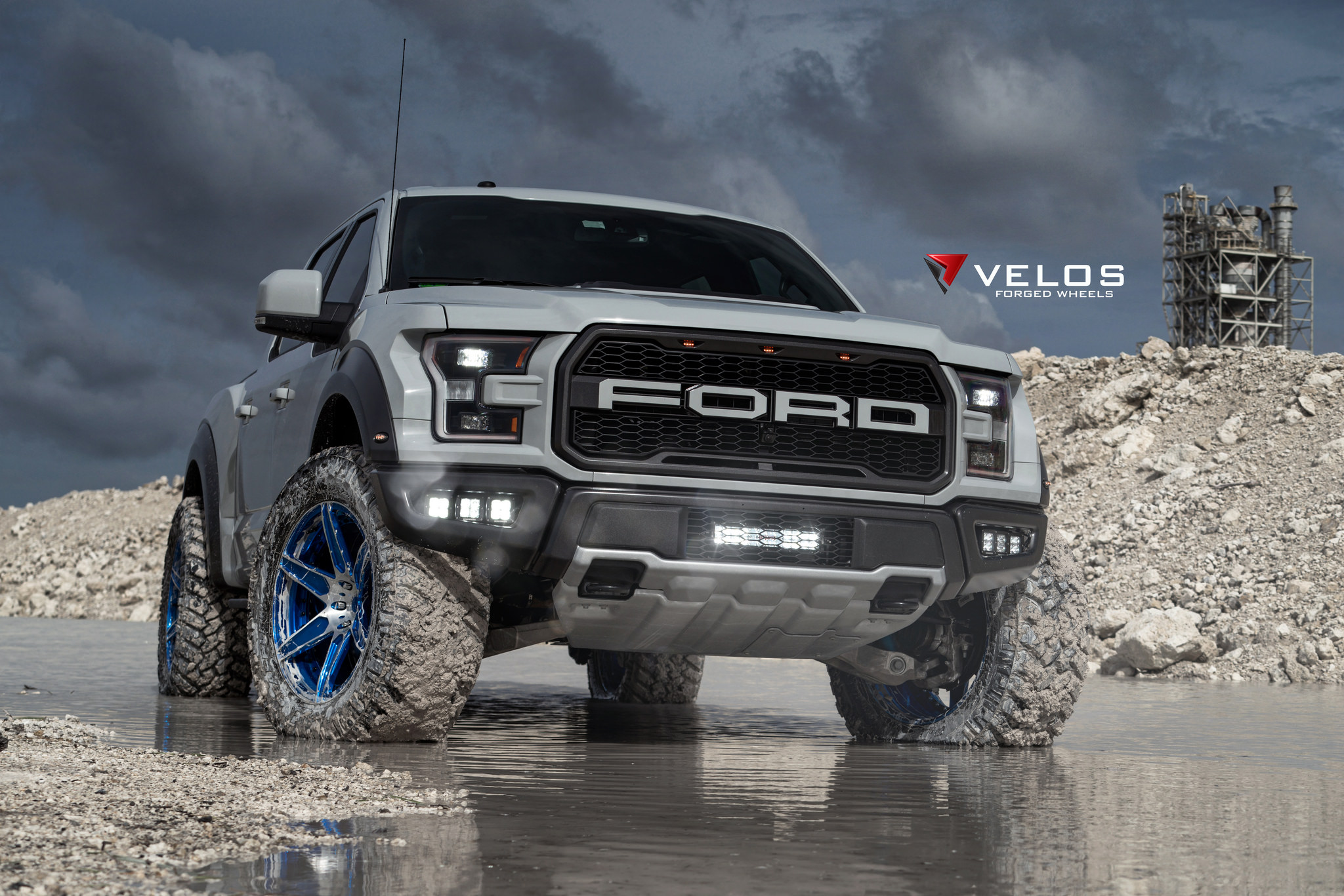 Gen 2 2017 Avalanche Grey Ford Raptor On Velos S6 Forged